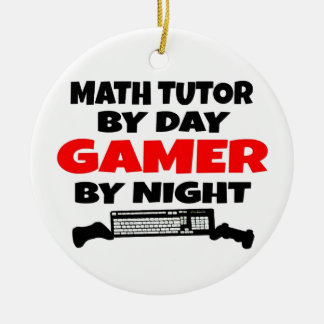 Math Tutor Gamer Ceramic Ornament