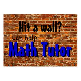 Math Tutor ... hit a wall? Large Business Card