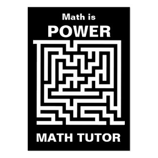 Math Tutor ... math is power Large Business Card