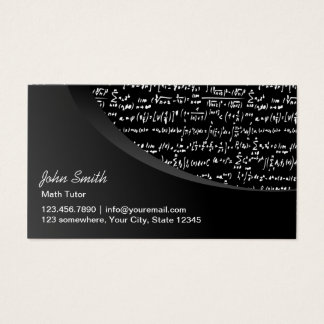 Math Tutor Professional Black Curve Business Card