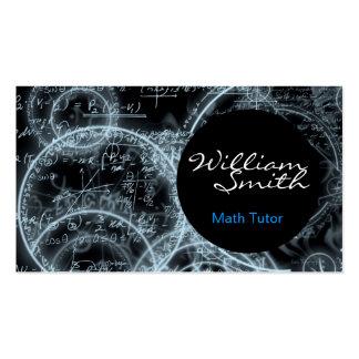 Math Tutor Tarjetas Personales