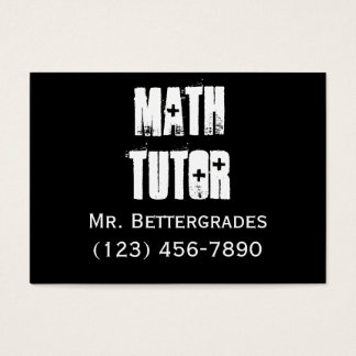 Math Tutor - templet Business Card