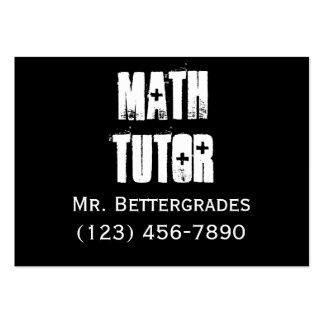 Math Tutor - templet Business Card Template