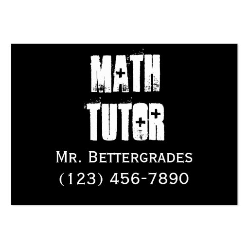 Math Tutor - templet Business Card Template