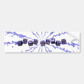 Math Tutor toy blocks in blue Bumper Sticker