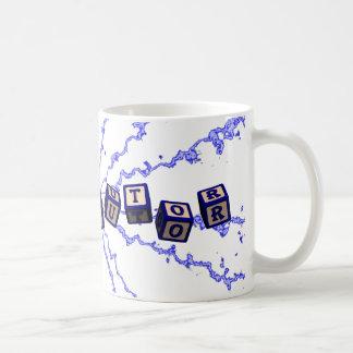 Math Tutor toy blocks in blue Coffee Mug