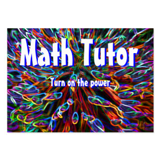 Math Tutor , Turn on the power... Large Business Card