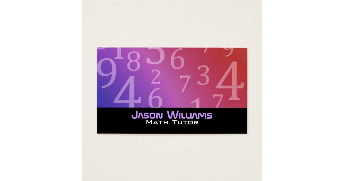 Math Tutoring Business Cards   Zazzle.com