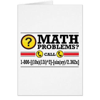 Math Tutoring Humor Gift Greeting Card