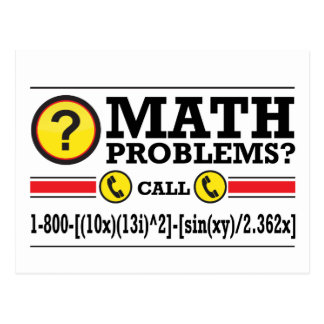 Math Tutoring Humor Gift Postcard