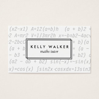 Math typography business card