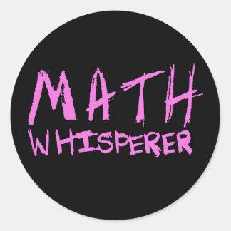 Math Whisperer Classic Round Sticker