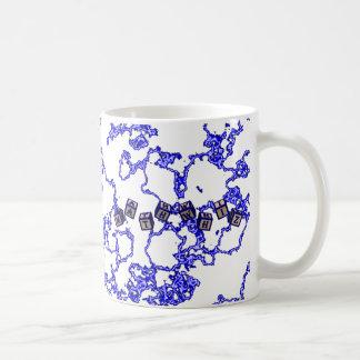 Math Whiz toy blocks in blue Coffee Mug
