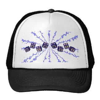 Math Whiz toy blocks in blue Trucker Hat