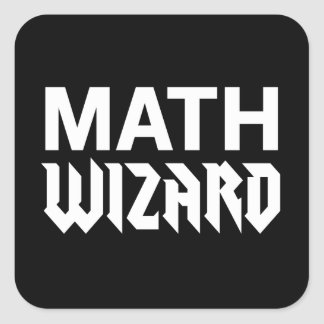 Math Wizard Square Sticker