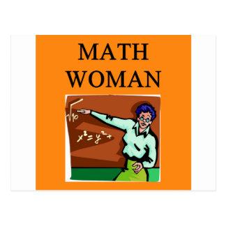 MATH WOMAN POST CARD