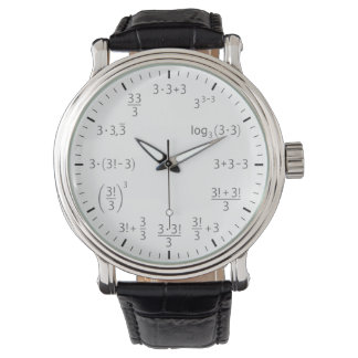 Math wrist watch 3 x 3 – beauty of simplicity