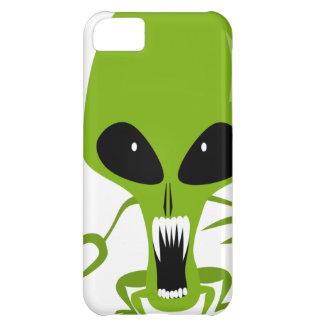mathafix GREEN HOSTILE ALIEN CARTOON GRAPHIC LOGO Cover For iPhone 5C