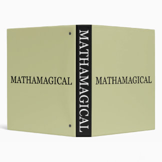 Mathamagical 3 Ring Binder