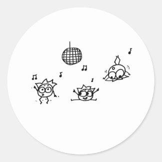 Mathberries Disco Classic Round Sticker