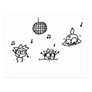 Mathberries Disco Postcard