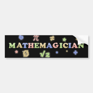 Mathemagician Etiqueta De Parachoque