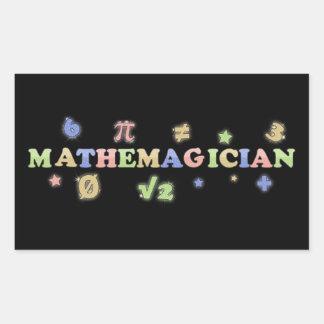 Mathemagician Rectangular Sticker