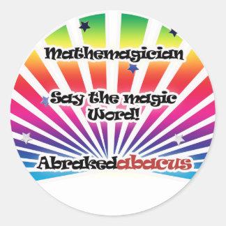 mathemagician round sticker