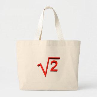 mathematic large tote bag