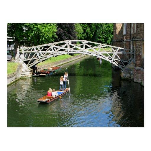 Mathematical Bridge, Cambridge Postcard