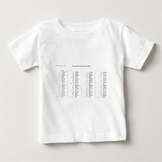 Mathematical Chart of Decimal Fraction Equivalents Baby T-Shirt