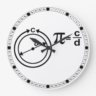 Mathematical Definition of Pi Large Clock