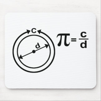 Mathematical Definition of Pi Mouse Pad