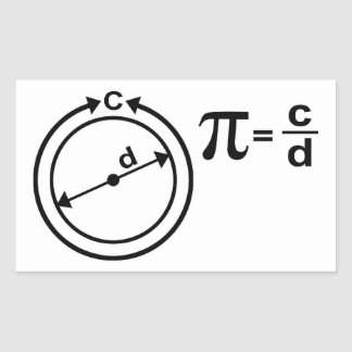 Mathematical Definition of Pi Rectangular Sticker