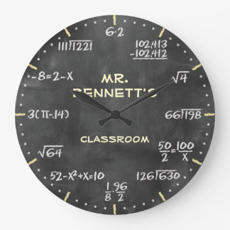 Mathematical Equations Personalizable Clock