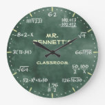 Mathematical Equations Personalizable Clock at Zazzle