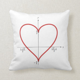 Mathematical heart throw pillow