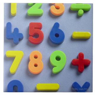 Mathematical magnets ceramic tile