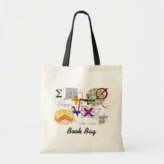 mathematical  on a book bag.#4 tote bag