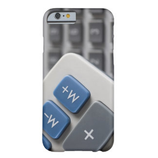 Mathematical symbols on a calculator and a barely there iPhone 6 case