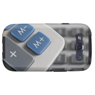 Mathematical symbols on a calculator and a galaxy SIII cases