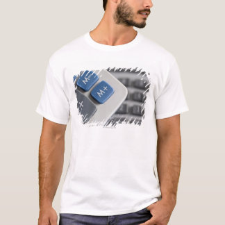 Mathematical symbols on a calculator and a T-Shirt