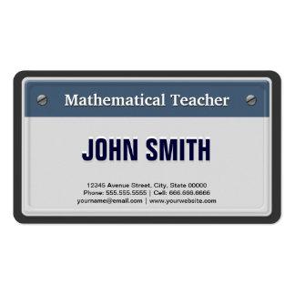 Mathematical Teacher Cool Car License Plate Business Card Templates