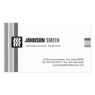 Mathematical Teacher - Creative Black White Business Card Template
