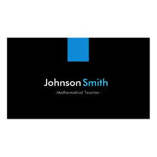 Mathematical Teacher Modern Aqua Blue Double-Sided Standard Business Cards (Pack Of 100)