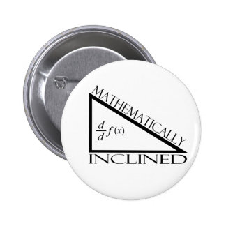 Mathematically Inclined Pinback Button