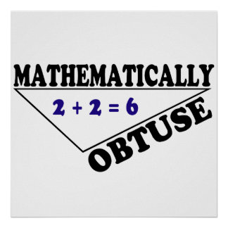 Mathematically Obtuse Posters
