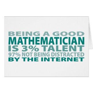 Mathematician 3% Talent Card