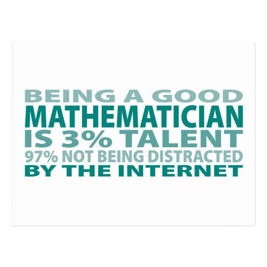 Mathematician 3% Talent Postcard