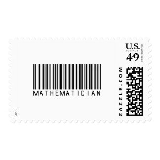 Mathematician Bar Code Postage Stamps